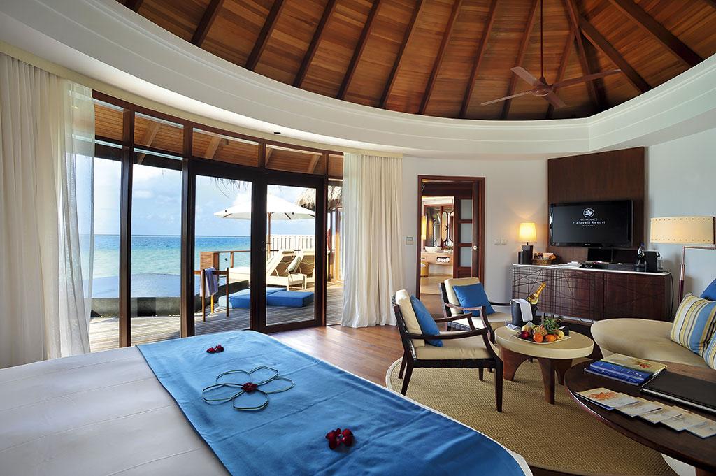 <35日前早割り><エミレーツ航空で行く2ヶ国周遊>★モルディブに4泊はConstance Halaveli Resort Maldives(Water Villa)利用★ドバイは重厚感あるセントレジスに宿泊!嬉しいレイトチェックアウト付き 8日間