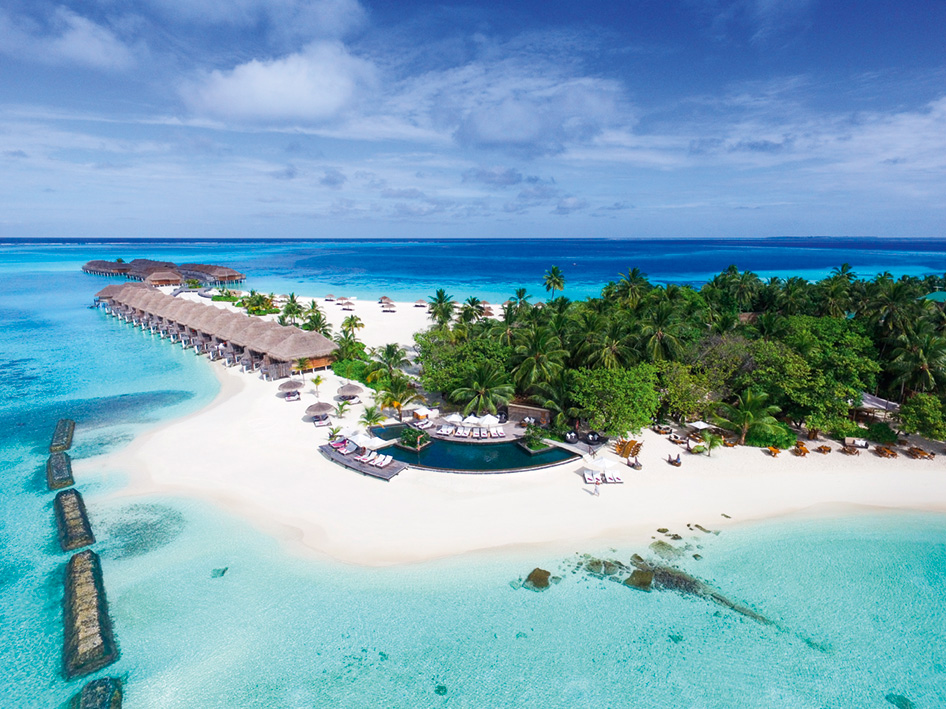 <35日前早割り><エミレーツ航空で行く2ヶ国周遊>★モルディブに4泊はConstance Moofushi Resort Maldives(Water Villa)利用★ドバイは重厚感あるセントレジスに宿泊!嬉しいレイトチェックアウト付き 8日間