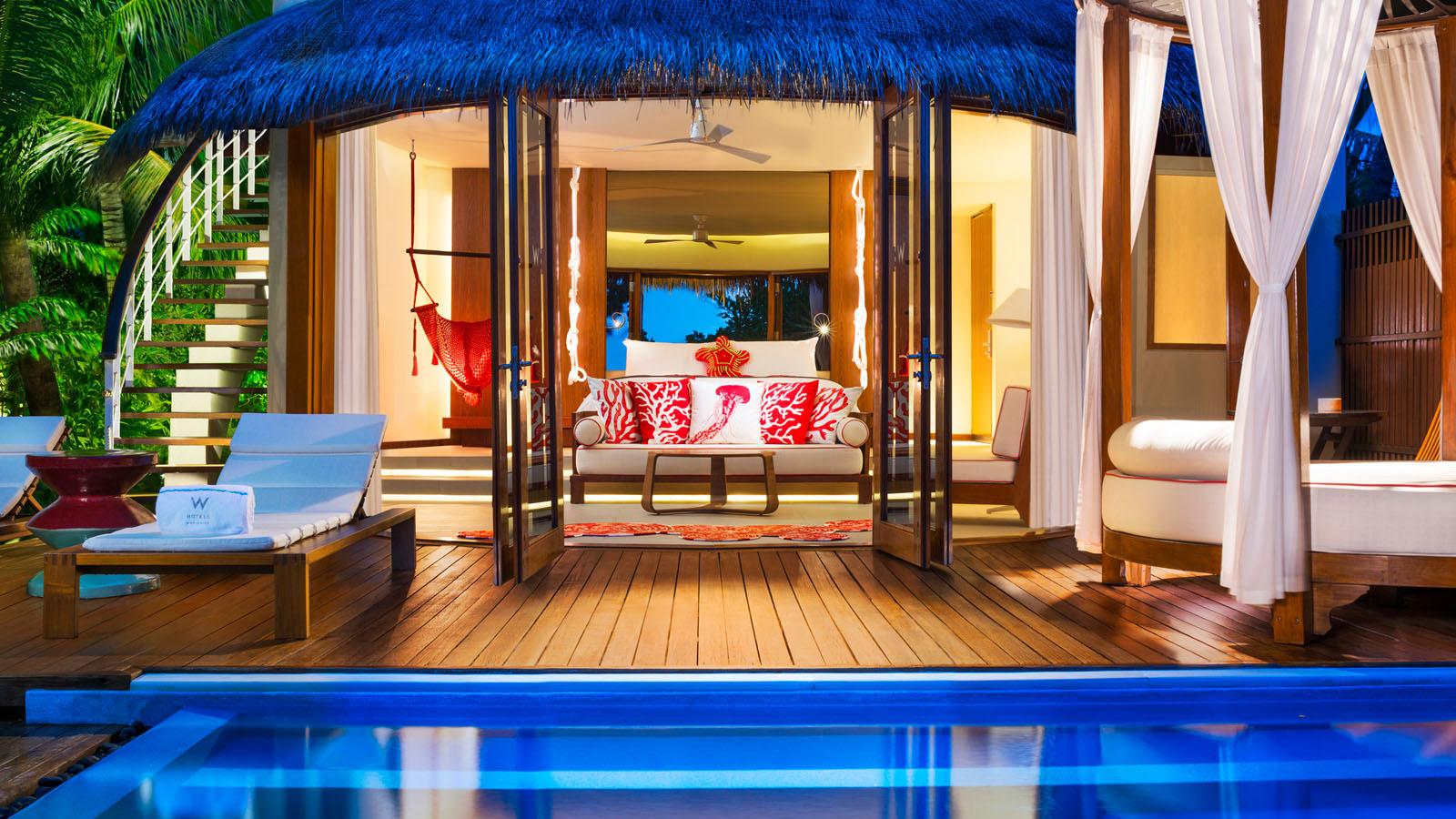 <エミレーツ航空で行く2ヶ国周遊>★モルディブに4泊はWモルディブ(Wonderful BeachOasis)利用★ドバイは重厚感あるセントレジスに宿泊!嬉しいレイトチェックアウト付き 8日間