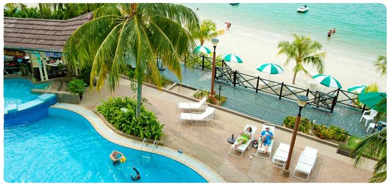 フラミンゴホテル・バイ・ザ・ビーチ(デラックス・ヒルビュー)に泊まる ペナン島 4泊6日 朝食・送迎付き・カード決済OK